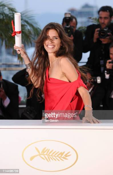 French director and actress Maiwenn poses after winning the Jury Prize for the film Polisse at the Palme d'Or Winners Photocall at the Palais des...