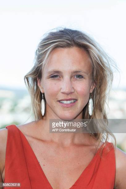 French director and actress Marie Kremer poses during a photocall of the 'Talents Adami Cannes 2017' during the 10th Angouleme Francophone Film...