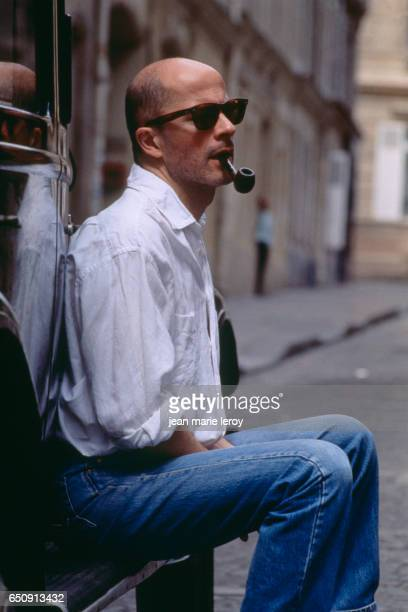 French director and screenwriter Jacques Audiard on the set of his film 'Un Heros Tres Discret' | Location Romainville France