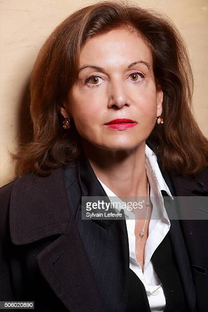 French director Anne Fontaine poses during photo session for the screening of the film 'Les innocentes' on January 8 2016 in Lille France