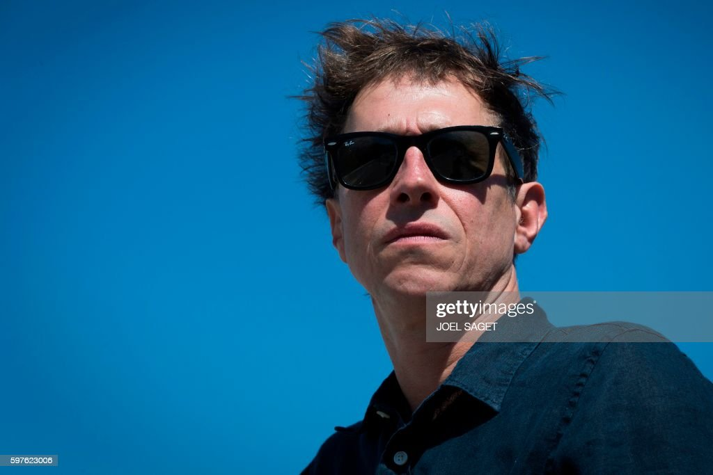 French director Bertrand Bonello poses in Paris on August 22 2016 The new movie of Bertrand Bonello 'Nocturama' focuses on the Paris terror attacks...