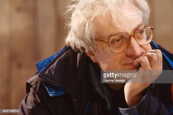 French director Bertrand Tavernier during the shooting of his film 'La Vie et rien d'autre'