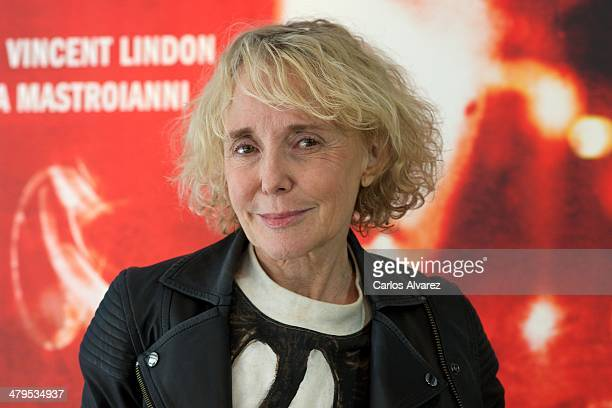 French director Claire Denis attends the 'Les Salauds' photocall at the Golem cinema on March 19 2014 in Madrid Spain