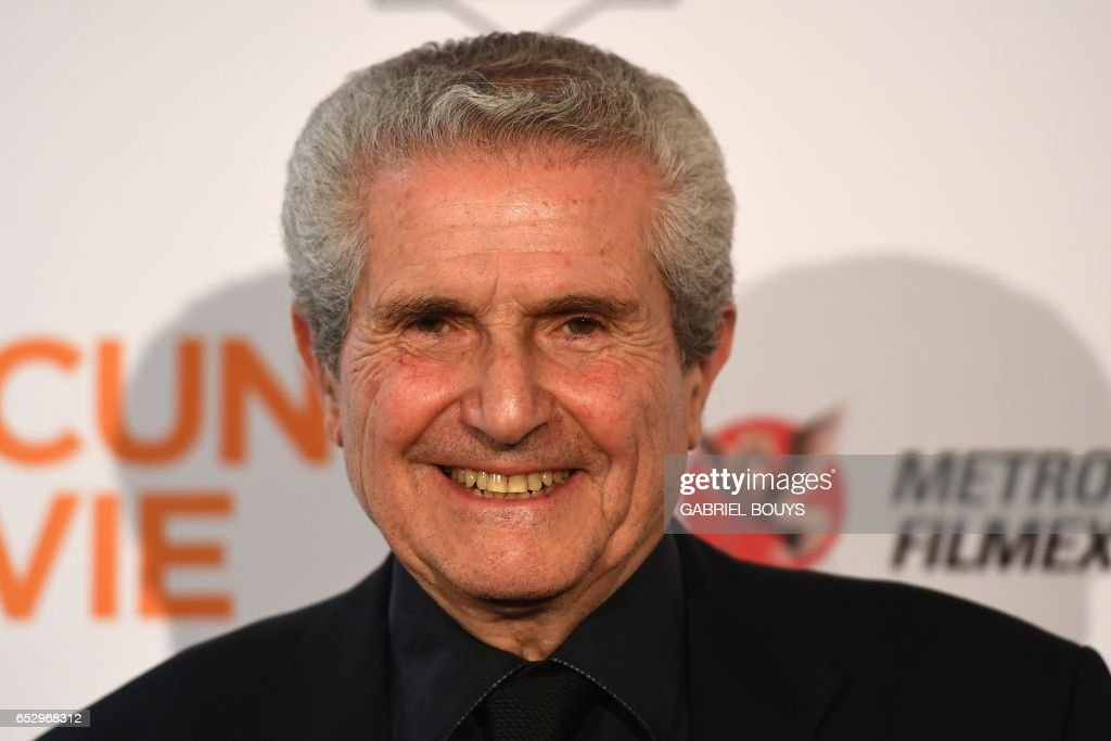French director Claude Lelouch poses during the photocall for the premiere of his film 'Chacun Sa Vie' in Paris on March 13, 2017