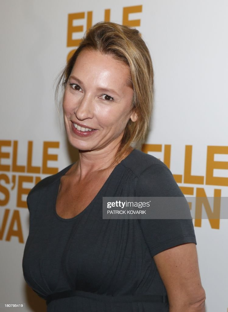 French director Emmanuelle Bercot poses prior to attend the Premiere of her new movie 'Elle s'en va' ('On my way'), on September 16, 2013 in Paris.