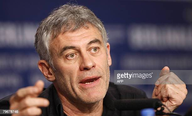 French director Erick Zonca addresses a press conference about his movie 'Julia' presented in competition for the Golden Bear of the 58th...
