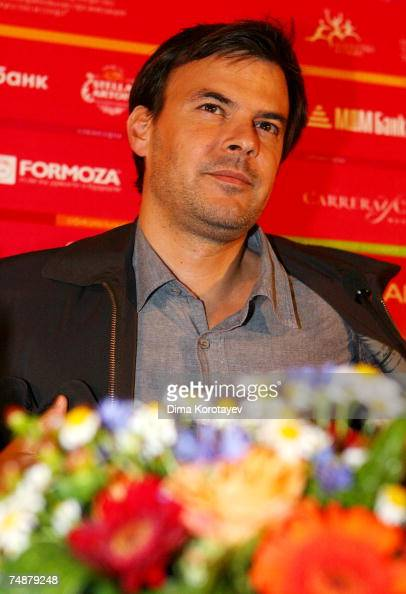 French director Francois Ozon takes part in a press conference for the film 'Angel' at the 29th International Moscow Film Festival on June 23 2007 in...