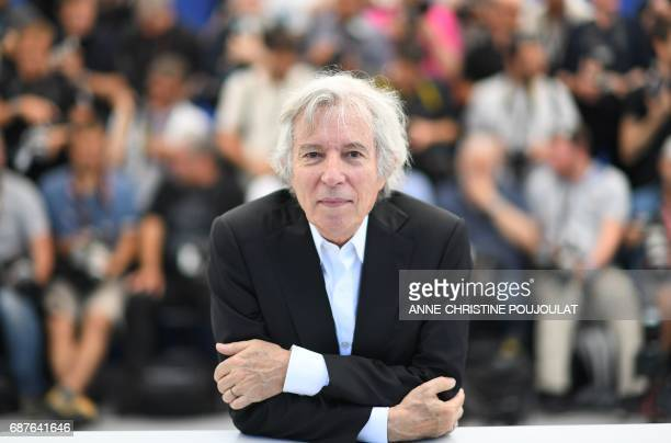 TOPSHOT French director Jacques Doillon poses on May 24 2017 during a photocall for the film 'Rodin' at the 70th edition of the Cannes Film Festival...