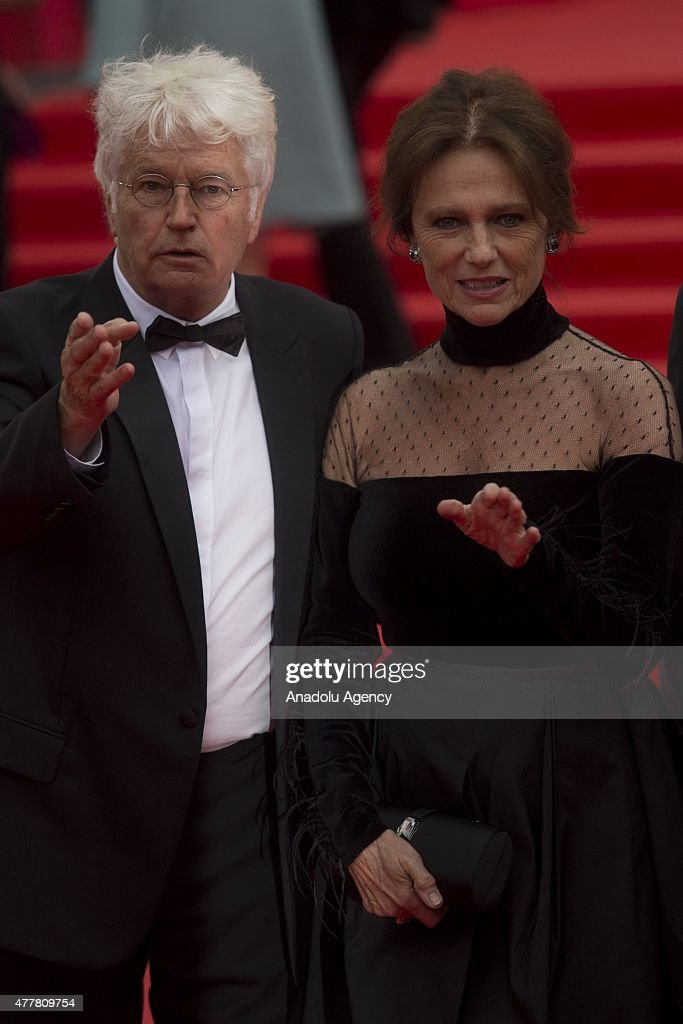 French director JeanJacques Annaud and jury member British actress Jacqueline Bisset attend the opening ceremony of the 37th Moscow International...