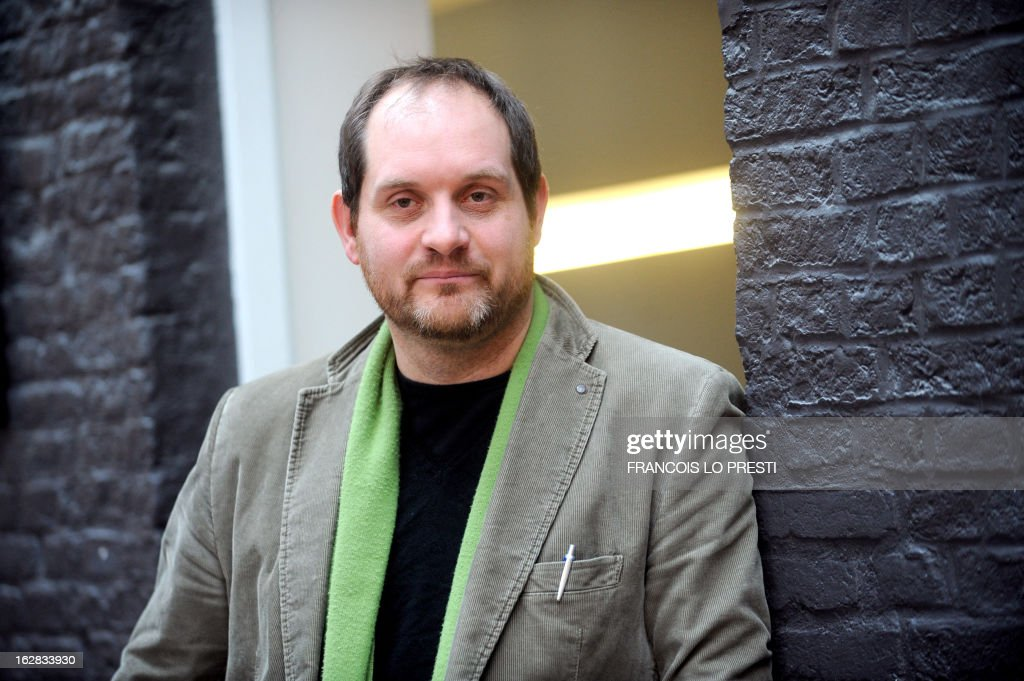 French director Joel Franka poses on February 26, 2013 in Lille, northern France, after a press presentation of his French movie 'Une chanson pour ma mere'.