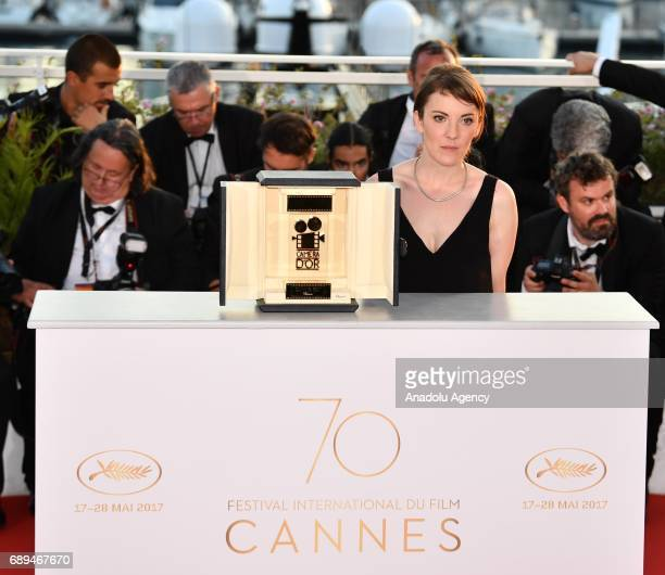 French director Leonor Serraille poses during the Award Winners photocall after she won the Golden Camera award for the film 'Jeunne Femme' at the...