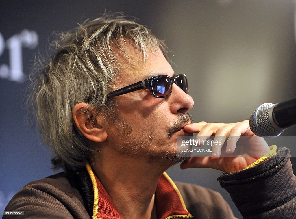 French director Leos Carax takes part in a press conference to promote his film 'Holy Motors' in Seoul on February 4, 2013. The movie will open in April in South Korea.