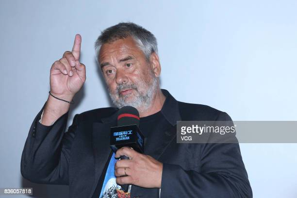 French director Luc Besson promotes his film 'Valerian and the City of a Thousand Planets' on August 20 2017 in Beijing China