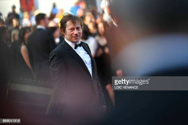 French director Mathieu Amalric arrives on May 27 2017 for the Un Certain Regard prize ceremony at the 70th edition of the Cannes Film Festival in...