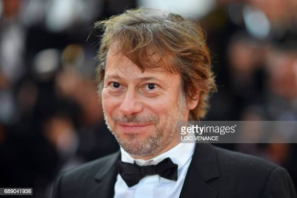 French director Mathieu Amalric poses as he arrives on May 27 2017 for the Un Certain Regard prize ceremony at the 70th edition of the Cannes Film...