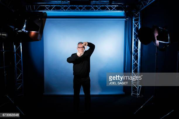 TOPSHOT French Director of the Cannes Film Festival Thierry Fremaux poses during a photo session on April 26 2017 in Paris / AFP PHOTO / JOEL SAGET