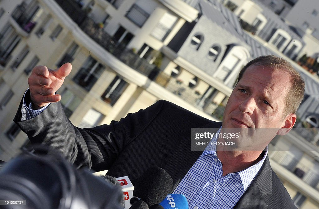 French director of Tour de France cycling race, Christian Prudhomme, answers journalists' questions on October 22, 2012 in Issy-les-Moulineaux, near Paris, after US cyclist Lance Armstrong was banned by the International Cycling Union (UCI) as the world cycling body upheld an earlier doping sanction handed to the seven-times Tour de France champion. The UCI said it would not contest sanctions already handed down by the US Anti-Doping Agency (USADA), stripping the cancer survivor of all of his results since August 1998 and earning him a ban for life. AFP PHOTO / MEHDI FEDOUACH