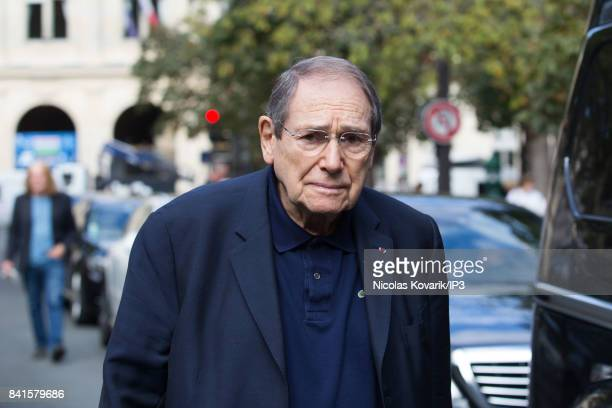 French director Robert Hossein attends Mireille Darc's Funeral at Eglise Saint Sulpice on September 1 2017 in Paris France French actress died aged...
