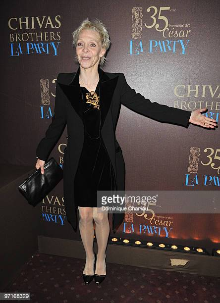 French Director tonie marshall attends the 35th Cesar Film Awards After Party at Dancing Mimi Pinson on February 28 2010 in Paris France