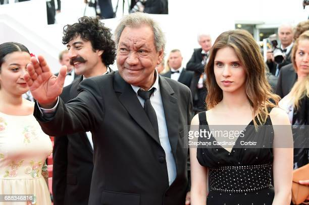 French director Tony Gatlif and actress Daphne Patakia attend 'Twin Peaks' premiere during the 70th annual Cannes Film Festival at Palais des...