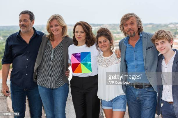 French directors Pascal Ralite and French director Colombe Savignac Canadian actress Suzanne Clement French actor Pascal Demolon and French actor...