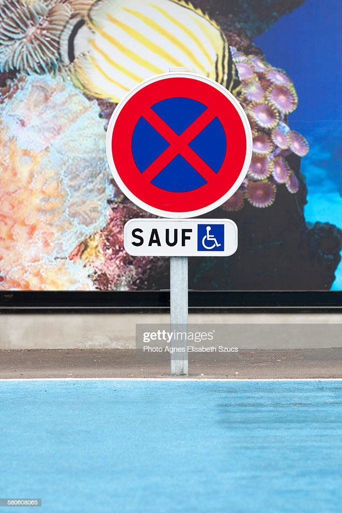French disabled parking sign
