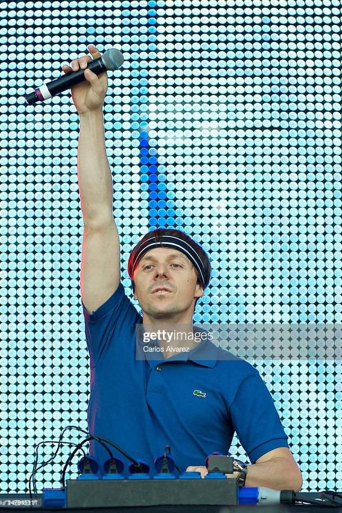 French DJ <a gi-track='captionPersonalityLinkClicked' href=/galleries/search?phrase=Martin+Solveig&family=editorial&specificpeople=3964744 ng-click='$event.stopPropagation()'>Martin Solveig</a> performs on stage during Rock in Rio Madrid 2012 on July 6, 2012 in Arganda del Rey, Spain.