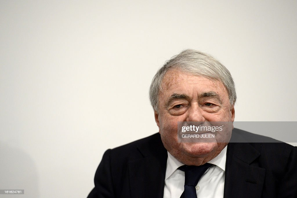 French documentary filmmaker and producer Claude Lanzmann attends a conference debat at the cinema museum Filmhaus on February 13, 2013 in Berlin during the 63rd Berlinale Film Festival. Lanzmann renowned for his groundbreaking 1985 documentary 'Shoah' will receive the honorary Golden Bear for his lifetime achievement during the international Film Festival.