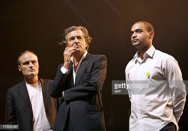 French Dominique Sopo head of the French association against racism SOS Racisme French philosopher Bernard Henry Levy and Chief editor of the French...