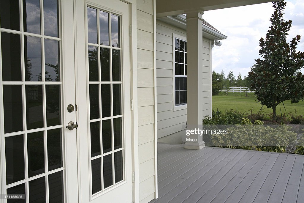 french doors country home porch - French Door