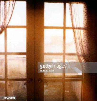 French doors : Stock Photo