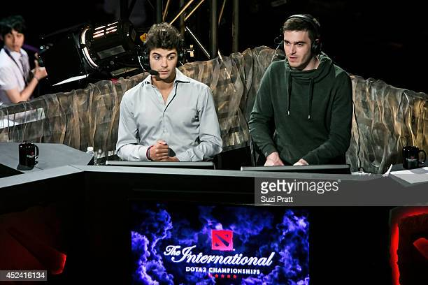 French DOTA 2 player Sebastien Debs at The International DOTA 2 Championships at Key Arena on July 19 2014 in Seattle Washington