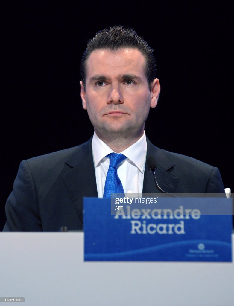 French drinks group Pernod Ricard Deputy CEO and Chief Operating Officer Alexandre Ricard arrives for the group's general meeting in Paris on November 9, 2012.
