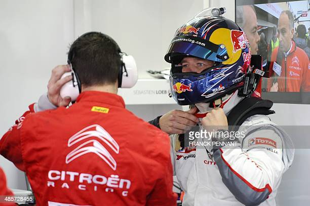 French driver Sebastien Loeb prepares to take part in the first race of the FIA World Touring Car Championship on April 20 2014 in Le Castellet...