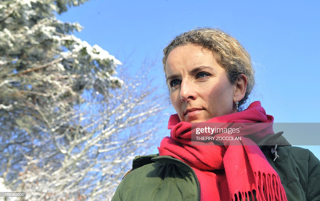 French Ecology Minister, Delphine Batho visits the Chaine des Puys, a volcanic chain in the French Massif Central, in Orcines, on January 11, 2013. The Chaine des Puys will be registered on the list of UNESCO's World Heritage sites.