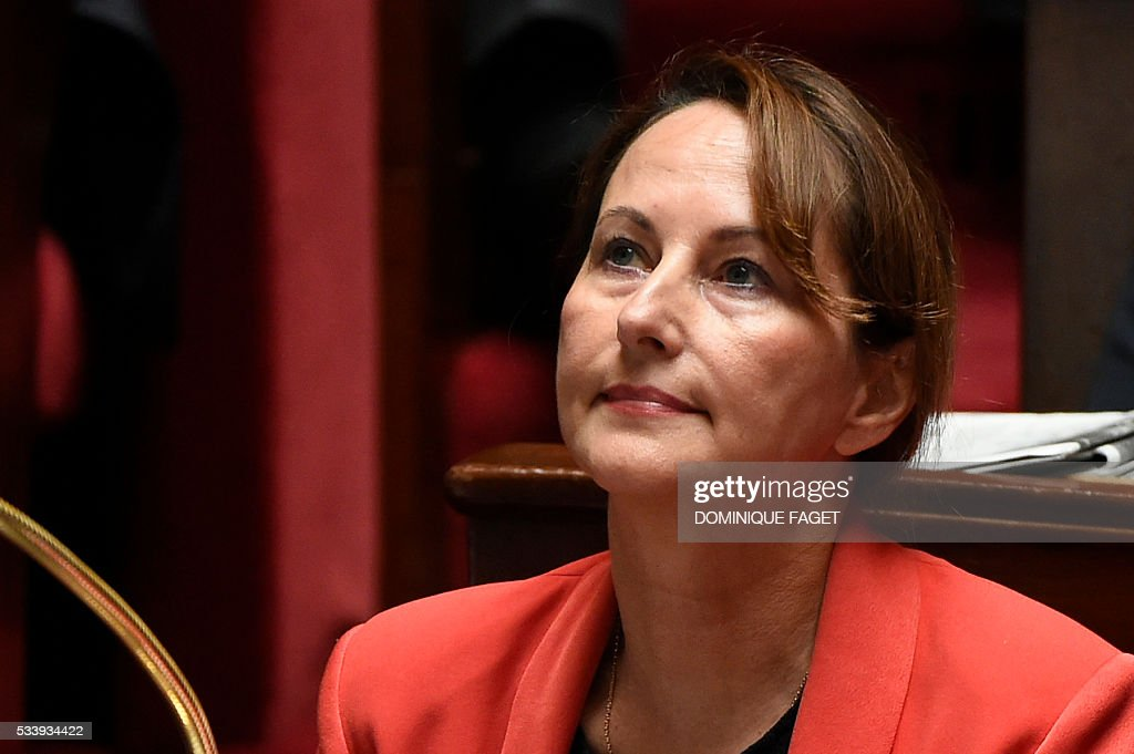 French Ecology minister Segolene Royal is pictured during a session of Questions to the Government, on May 24, 2016 at the National Assembly in Paris.