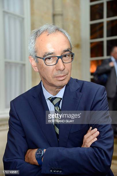 French economist and director of the French prime ministers economic policy planning staff Jean PisaniFerry speaks to the press on June 17 2013 after...