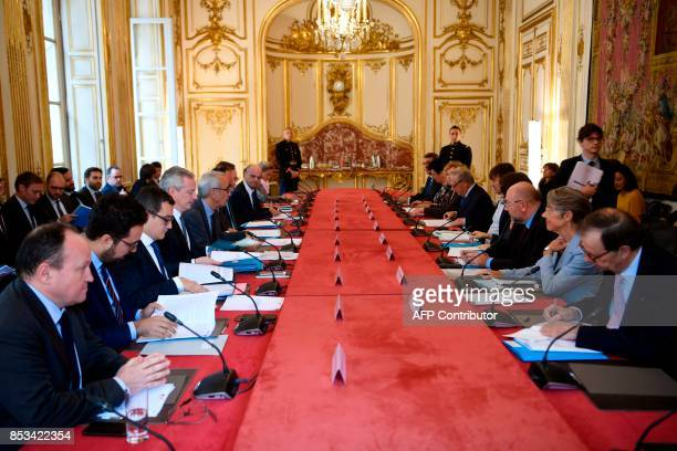 French economist Jean PisaniFerry presents his report on France's Grand Investment Plan for 20182022 to French Minister of State for the Digital...