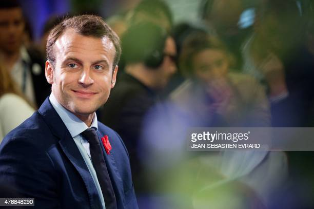 French Economy and Industry Minister Emmanuel Macron attends the inauguration of the 'Cite de l'Objet Connecte' in SaintSylvaind'Anjoy near Angers...