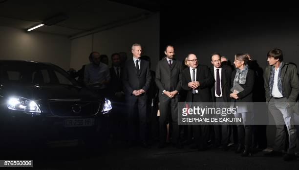 French Economy Minister Bruno Le Maire French Prime Minister Edouard Philippe an unidentified person SeineSaintDenis' MP JeanChristophe Lagarde...
