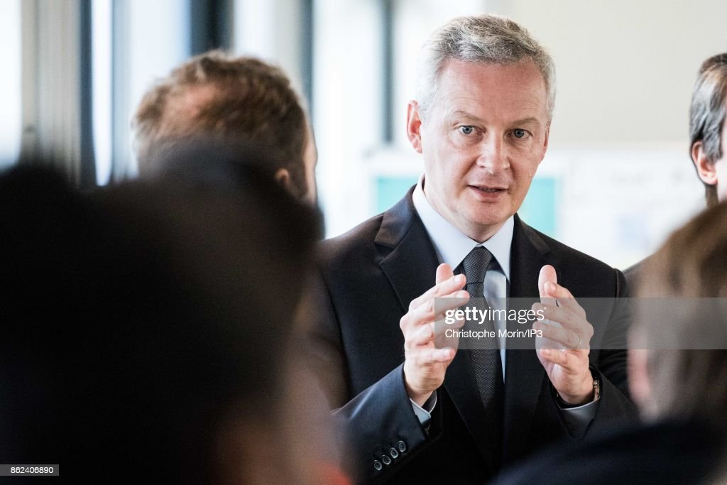French Minister of Economic and Finance Bruno Le Maire Opens The Digital Factory De Thales