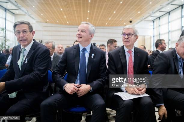 French Economy Minister Bruno Le Maire launches La French Fab in the presence of numerous business leaders elected officials and industry...