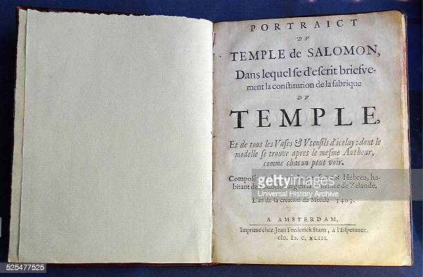 French Edition of a tract describing the building of the Temple of Solomon in Jerusalem By Rabbi Yehuda Leon