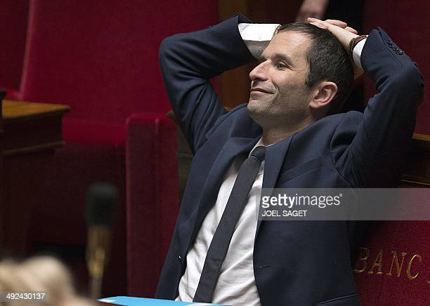 French Education minister Benoit Hamon is seen during a session of Questions to the Government on May 20 2014 at the National assembly in Paris AFP...