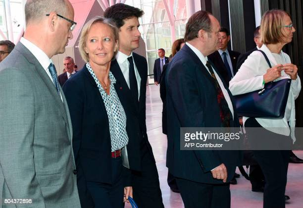 French Education Minister JeanMichel Blanquer French Junior Minister in charge of Disabled People Sophie Cluzel and French Junior Minister for the...