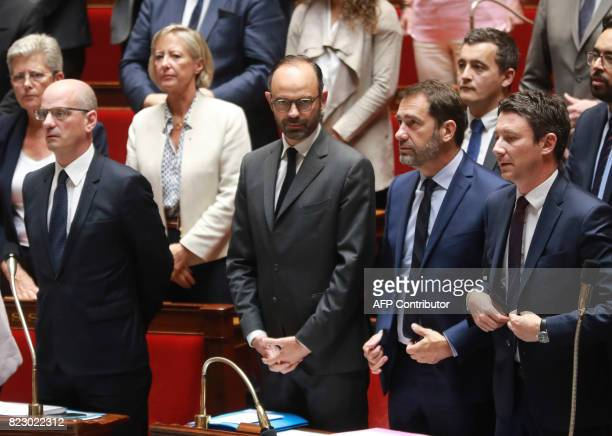 French Education Minister JeanMichel Blanquer French Prime Minister Edouard Philippe French Junior Minister for the Relations with Parliament and...
