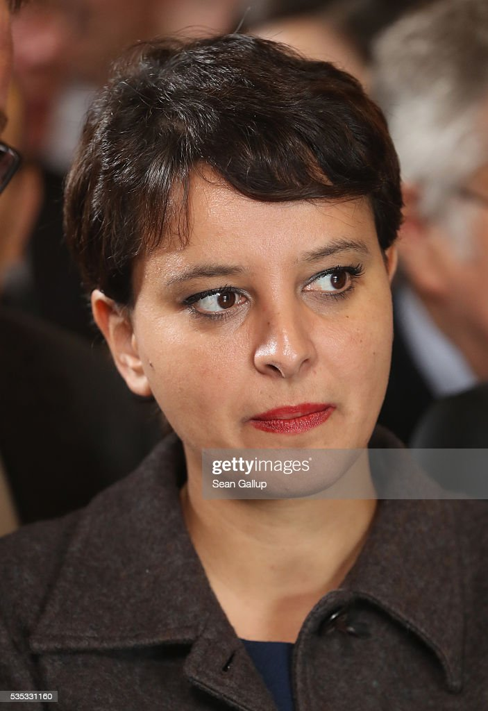 French Education Minister <a gi-track='captionPersonalityLinkClicked' href=/galleries/search?phrase=Najat+Vallaud-Belkacem&family=editorial&specificpeople=4115928 ng-click='$event.stopPropagation()'>Najat Vallaud-Belkacem</a> attends the inauguration of the Verdun Memorial during ceremonies to commemorate the 100th anniversary of the World War I Battle of Verdun at the Douaumont cemetery on May 29, 2016 near Verdun, France. The 1916, 10-month battle pitted the French and German armies against one another in a grueling campaign of trench warfare and artillery bombardments that killed a total of approximately 300,000 soldiers. The events today coincide with the 50th anniversary of commemorations held at Verdun by then French President Charles de Gaulle and German Chancellor Konrad Adenauer that paved the way for a new era of peaceful, post-war Franco-German relations.