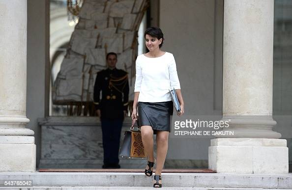 education minister najat vallaud belkacem leaves after a weekly cabinet meeting on june