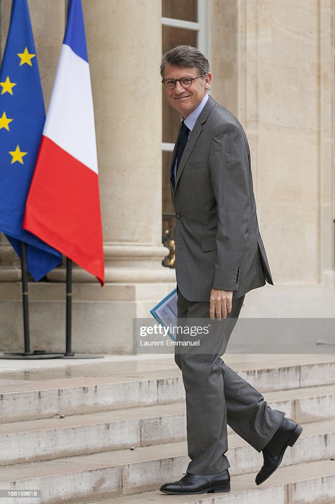 French Education Minister Vincent Peillon arrives for a work meeting of government ministers presided by French President Francois Hollande at Elysee Palace on May 6, 2013 in Paris, France. Hollande marks his first year in office May 6.