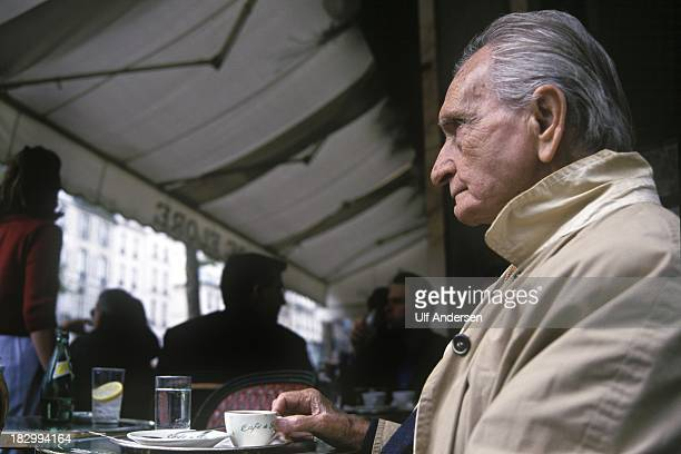 PARIS FRANCE OCTOBER 3 French/ Egyptian writer Albert Cossery during a portrait session in the Latin quarter of Paris on October 3 1999 in France